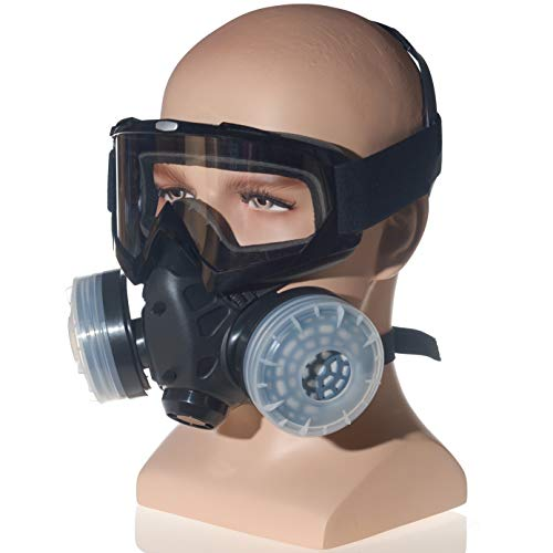HXMY Anti-Dust Paint Respirator Reusable Face Mask Goggles Set