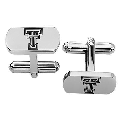 - College Jewelry Texas Tech Red Raiders Rectangular Shape Stainless Steel Cufflinks