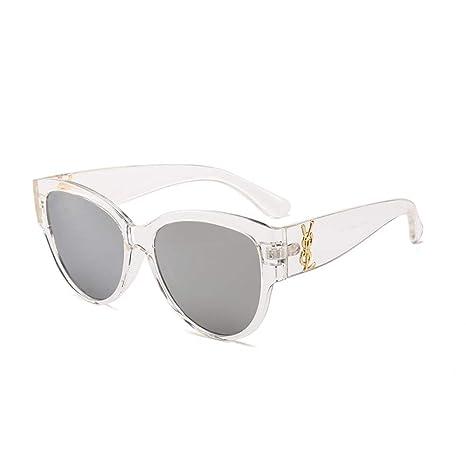 Yangjing-hl Gafas de Sol con Montura Redonda, Gafas Moda ...