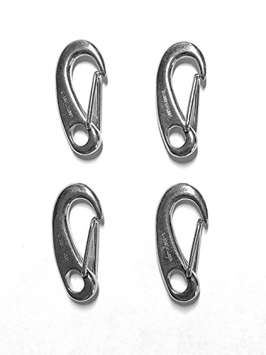 4 Pieces Stainless Steel 316 Spring Snap Lobster Claw 1.25'' (32mm) Marine Grade by US Stainless