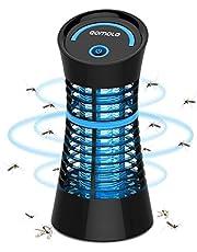 Qomolo Lampe Anti Moustique,UV Moustique Tueur Lampe Electrique Moustique Killer Lampe,Intérieur Destructeur De Moustique Zapper Lampe pour Répulsif Moustique, Mites, Mouches,Insectes, Noir