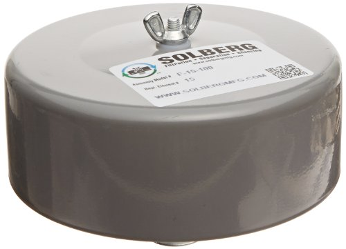 Solberg F-15-100 Inlet Filter, 1'' MPT Outlet, 4'' Height, 6'' Diameter, 35 SCFM by Solberg