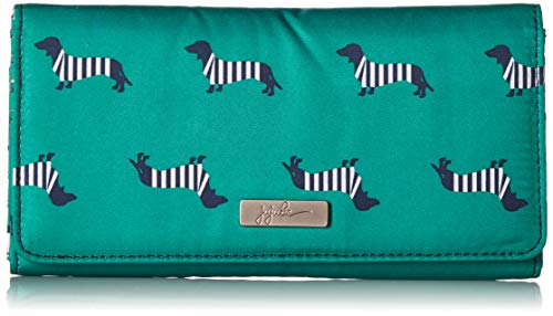 JuJuBe Be Rich Tri-Fold Wallet with Snap Enclosure, Coastal Collection - Coney Island ()