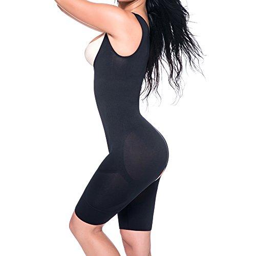 Kiwi-Rata Body Faja Modeladora Reductora Mujer Corsé Bragas Body sin Costuras Adelgazante Adelgazar Lencería Negro