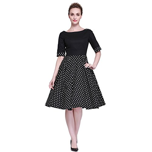 Heroecol Vintage 1950s 50s Dress Style Retro Rockabiily Cocktail XXL BKBW
