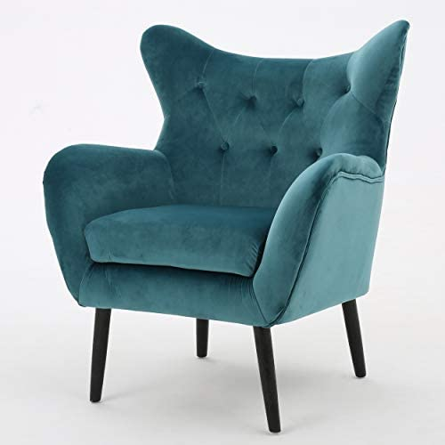 Christopher Knight Home Seigfried Velvet Arm Chair