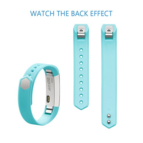 AK 301 Fitbit Alta Bands, Replacement with Metal Clasp, Small, Teal