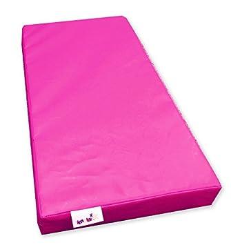 Implay - Colchoneta para gimnasia (goma espuma de alta densidad, PVC de 610 gsm, 100 x 50 x 10 cm), color rosa: Amazon.es: Deportes y aire libre