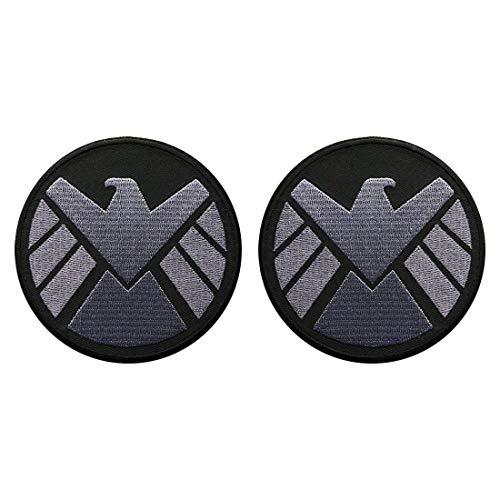 Avengers Movie Shield Logo Costume Shoulder Patch Set of 2 (3.5 INCH - AV-7)]()