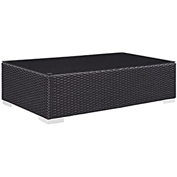 Modway Convene Outdoor Patio Coffee Table, Espresso