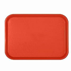 """Bandejas de cafetería–comida rápida bandeja–café–ALMUERZO–Bandejas de plástico Surtido de Colores 12""""X 161/4"""" 12"""" X 16 1/4"""" rosso"""