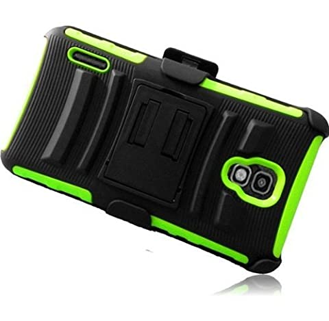 For LG Optimus F7 US780 Belt Clip Hybrid Holster Kickstand Cover Case with ApexGears Stylus Pen (Lg Optimus Cell Phone Holster)