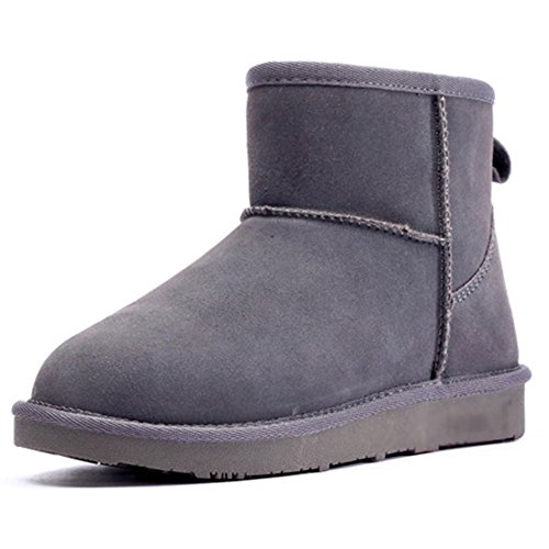 Keep Calf Unisex Size Warm Eastlion 35 Outdoor Fleece Grey Wearable Boots Sequins Shoes Snow Mid Lined Boots Winter 44 Short At77qwndBp