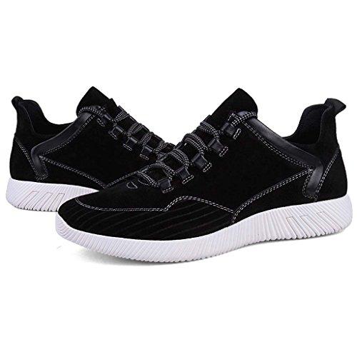 ZXCV Zapatos al aire libre Zapatos deportivos para hombre zapatos deportivos casual zapatos de cuero para hombres transpirables Negro