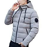 FANOUD Men's Thickening Warm Hat Winter Cotton Coat Jacket