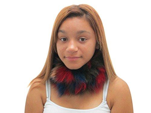 Multicolor Fox Elastic Headband & Neck Warmer
