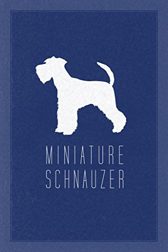 Dogs Miniature Schnauzer Blue Mural Giant Poster 36x54 inch ()