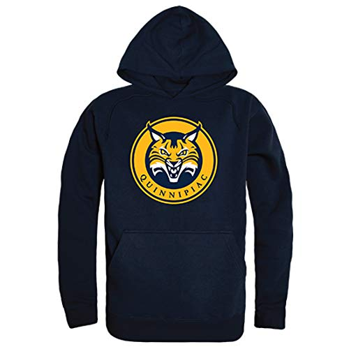 - W Republic QU Quinnipiac Bobcats NCAA Unisex The Freshman Pullover Hoodie - Medium, Navy