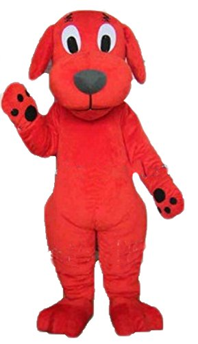 ARISMASCOTS Clifford Dog Mascot Costume for Adult Wear Cartoon Character Costumes for Party