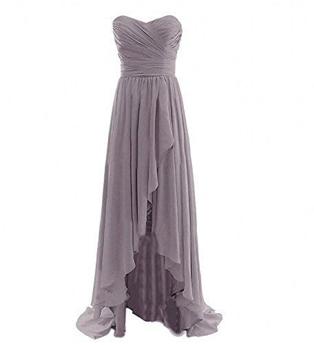 AK lo Sweetheart Prom Gray Gown Dress Women's Hi Bridesmaid Chiffon Beauty rt7C1qwr