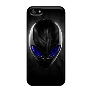 Tpu Case Cover For Iphone 5/5s Strong Protect Case - Blue Eyed Alien Design