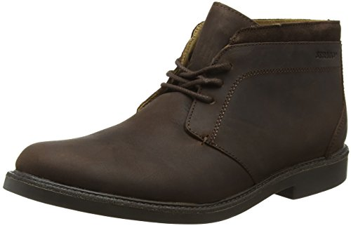 Sebago Turner, Botas Chukka para Hombre Marrón (Dk Brown Leather Wp)