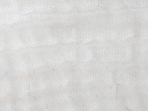 Arrugado textura doble algodón vestido de gasa tela blanca – por ...