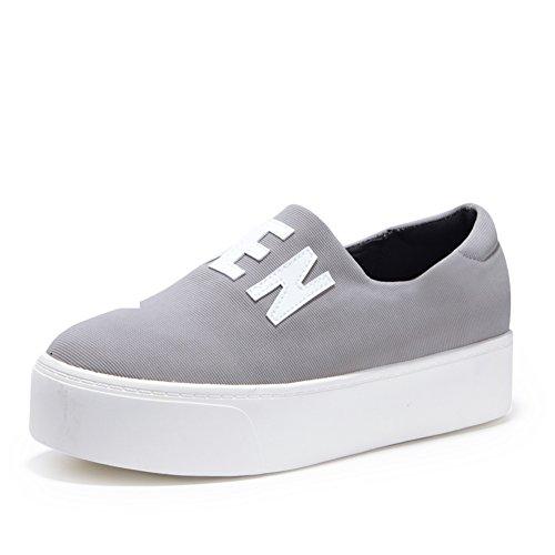 8175c3a9 Otoño mareas Le Fu/pie redondo de fondo plano zapatos del ocio ...