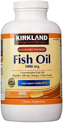 Kirkland Signature Fish oil 1000mg, 400 Count