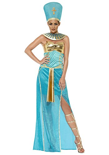 [Smiffy's Women's Goddess Nefertiti Costume, Dress, Headpiece and Collar, Tomb of Doom, Halloween, Size 6-8,] (Nefertiti Halloween Costumes)
