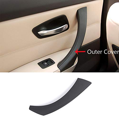 (TTCR-II Door Handle Outer Covers Compatible with E90 E91 Black Left Front/Rear Interior Passenger Side Door Handle Outer Trim (Fits: 323 325 328 330 335 Sedan&Touring))