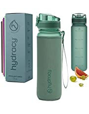 Hydracy Water Bottle with Time Marker - Large BPA Free Water Bottle - Leak Proof & No Sweat Gym Bottle with Fruit Infuser Strainer for Fitness or Sport & Outdoors