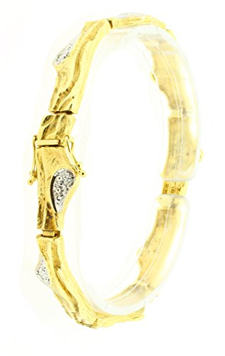 Bracelet Design God 585/-jaune avec 83.58Gr. 0,16ct 210115010019