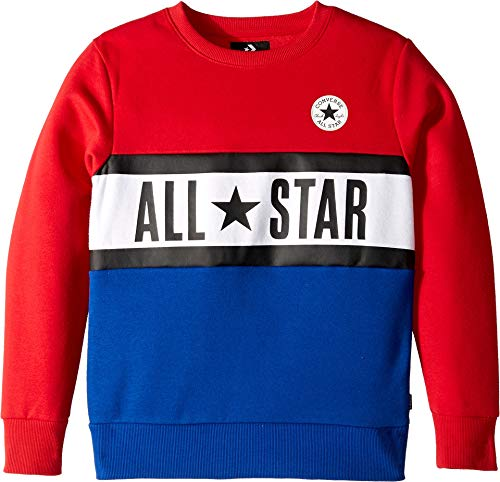 Converse Kids Boy's All Star Paneled Crew (Big Kids) Enamel Red Small ()