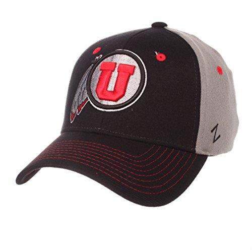 ZHATS NCAA Utah Utes Men's Duo Hat, Medium/Large, Black/Gray