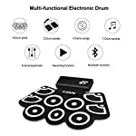 Electronic-Silicone-Rechargeable-Drum-Kit-Safeplus-9-Pads-Foldable-Drum-Set-Built-in-Speaker-With-Pedals-Sticks-Perfect-for-Practice-Drum-Starters-Beginners-Upgraded