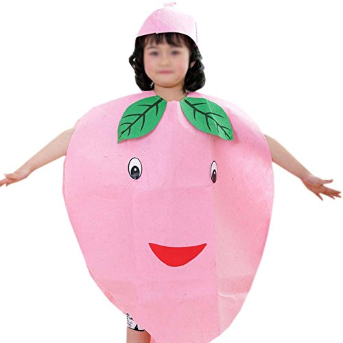 ANDES Child Party Clothing Pink Peaches Costume Suit for Halloween Holidy (Peaches)
