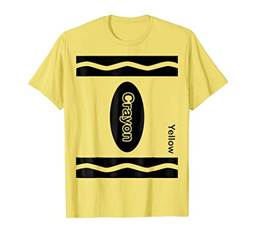 Yellow Crayon Halloween Costume Shirt For Friends and -
