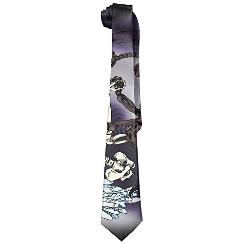 Good Vs Evil Tango Polyester Neckwear Silk Neck Tie, Gentleman Cool Personalized Classic Neckties,Graduation Meeting Business Casual Skinny Ties
