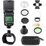 Godox Thinklite TT685S TTL 2.4GHz GN60 High Speed Sync 1/8000s Wireless Master Slave Camera Flash Speedlite Speedlight Light for Sony Cameras&S-R1 Flash Adapter&AK-R1 Flash Head Accessory