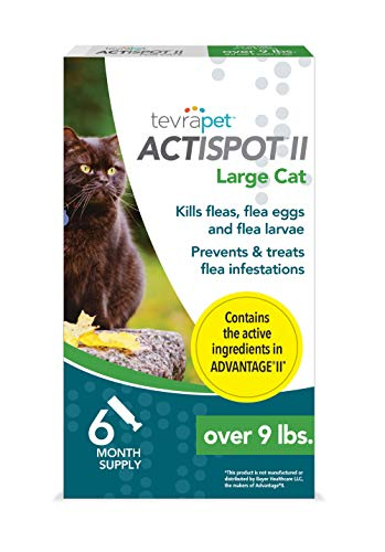 TevraPet Actispot II Flea Prevention  Treatment for Cats - Topical - for Cats Over 9 Lbs