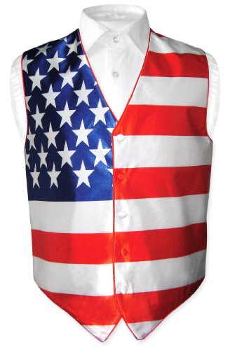 - Men's American Flag Dress Vest size Large