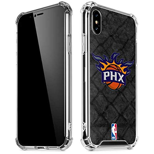 (Skinit Phoenix Suns Dark Rust iPhone Xs Max Clear Case - Officially Licensed NBA Phone Case Clear - Transparent iPhone Xs Max Cover)