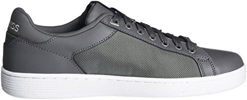 K-swiss Mens Moda Corte Sneaker Moda Carbone / Argento / Bianco