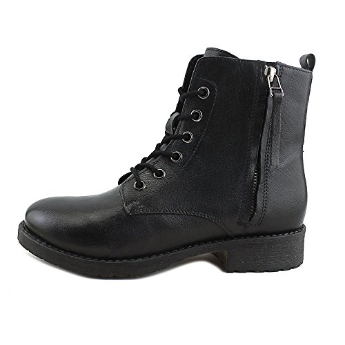 Leather Ankle Boots Toe Madden Womens Antonie Steve Combat Leather Closed Black qgt6BY