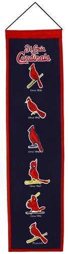 St. Louis Cardinal's Heritage Banner 100% Wool High Quality