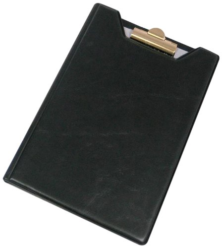 Samsill Clipboard Junior Padfolio / Portfolio, 5 x 8 Writing Pad, Black