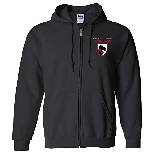 UGP Campus Apparel AZ07 - Carnegie Mellon Tartans Primary Logo LC Zip Hoodie - Large - - Promotional Apparel Mens