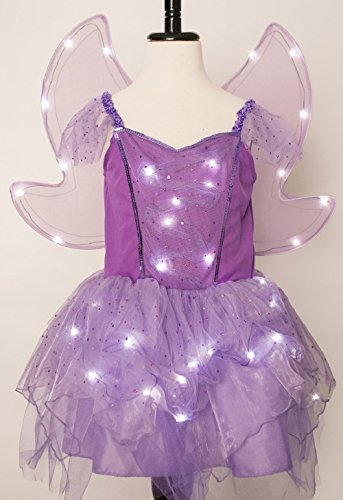 Purple Fairy Costume (Purple Fairy Light Up Costume with Light Up Wings (Size 4 to 6))