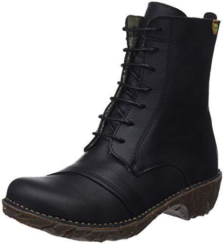 Negro Botas Mujer Ng57 Black Black Yggdrasil Soft Grain El Militares Naturalista Black para vqawZ
